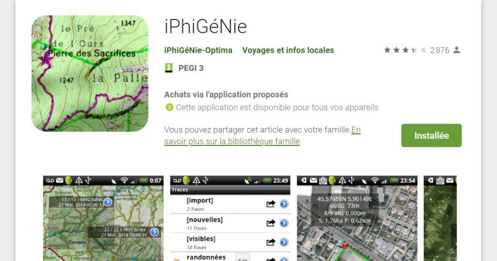 IGN gratuit sur Iphigénie