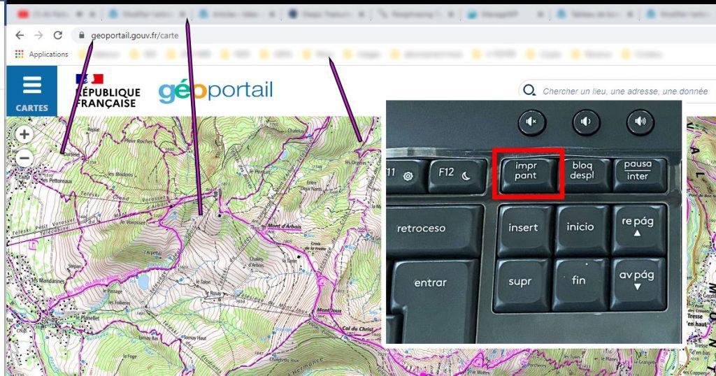 touche impr écran pour faire une capture d'écran